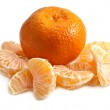 The whole tangerine and the parts of it — Stock Photo