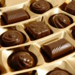 Stock Photo: Chocolate sweets in an box