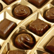 Chocolate sweets in an box — Stock Photo