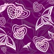 Stock Vector: Purple hearts and butterflies