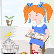Royalty-Free Stock Vector Image: Reading child