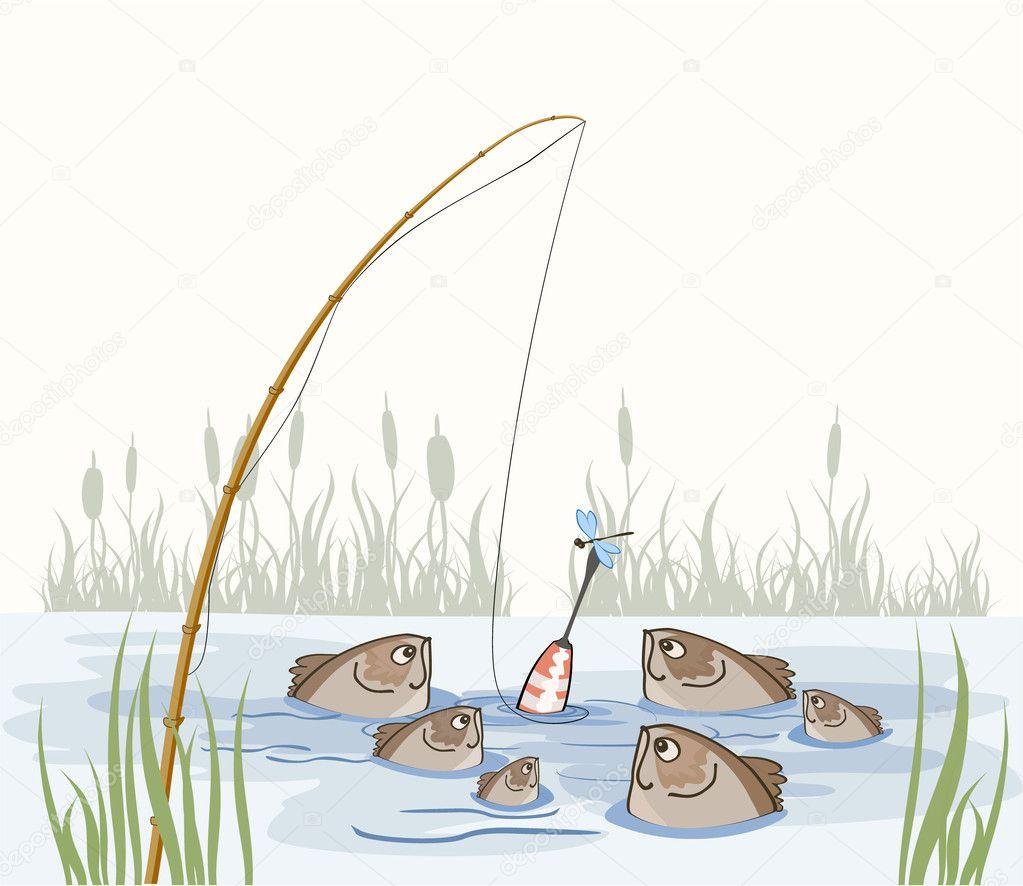 Fische im teich stockvektor trifoly 1095370 for Fische in teich