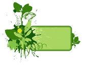 Ecological vignette 1 — Stock Vector