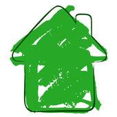House_watercolour_with_contour — Stockvektor