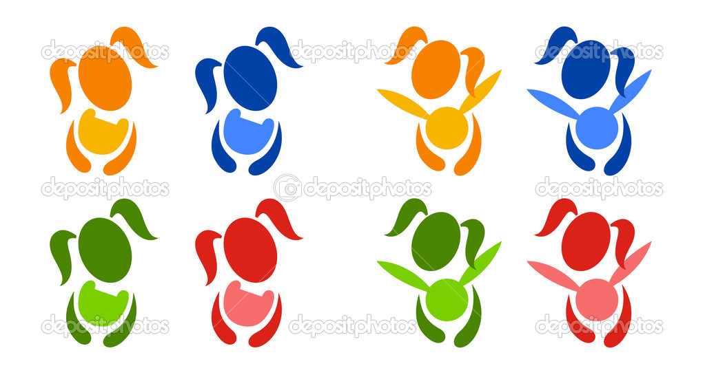 Pictogram images of a girl with toys  Stock Vector #1091238