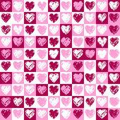 Pattern hearts — Stock Vector