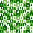 Christmas tree pattern green — Stock Vector