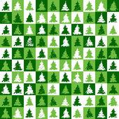 Christmas tree pattern green — Stock Vector