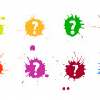 Royalty-Free Stock Vector Image: Question blots