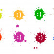 Smile blots — Stock Vector