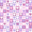 Pattern hearts 2 — Stock Vector