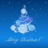 クリスマス ツリー カード — ストックベクタ