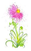 Flower of blots 1 — Stock Vector