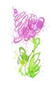 Flower of blots — Stock Vector