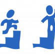 Pictogram with steps - Vettoriali Stock 