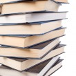 Pile of books isolated on a white — Stock Photo