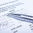 Closeup of a chart with a pen — Stock Photo