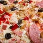 Tasty Italian pizza with lemon — Stock Photo #1120798