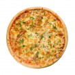 god italiensk pizza med citron — Stockfoto