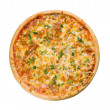 Tasty Italian pizza with lemon — Stok fotoğraf #1120904