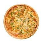 god italiensk pizza med citron — Stockfoto