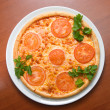 Tasty Italian pizza  with lemon — Stockfoto