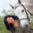 Girl and horse.r — Stock Photo #1120964