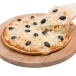 Tasty Italian pizza with lemon — Stock Photo