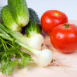 Stock Photo: Assortment of fresh vegetables