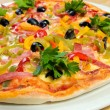 Tasty Italian pizza.Neapolitan — Stock Photo #1130692