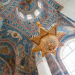 Interior of russian orthodox church. - Stock Photo