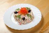 Salad seafoods — Stock Photo
