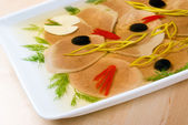 Aspic from meat — Stock Photo
