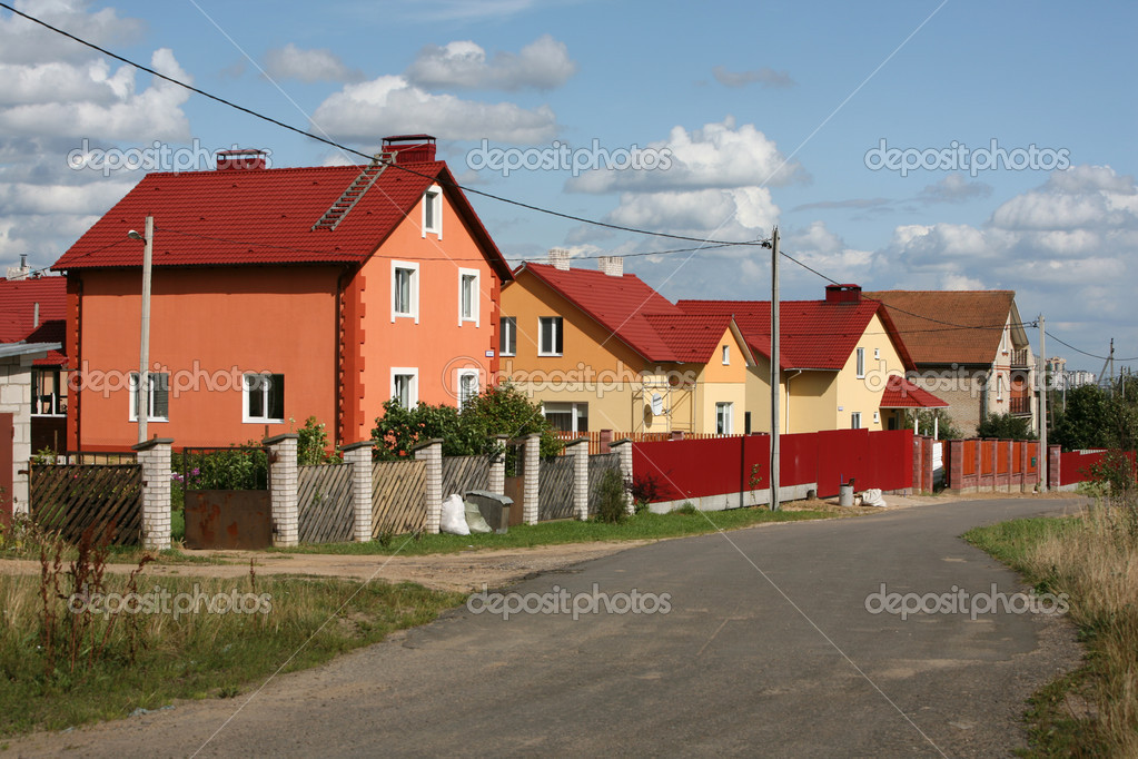 City suburb. Minsk, Belarus - august 2009. — Stock Photo #1113708