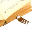 Stock Photo: Fork-bookmark