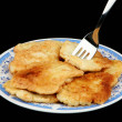 Fritters on a plate — Stock Photo