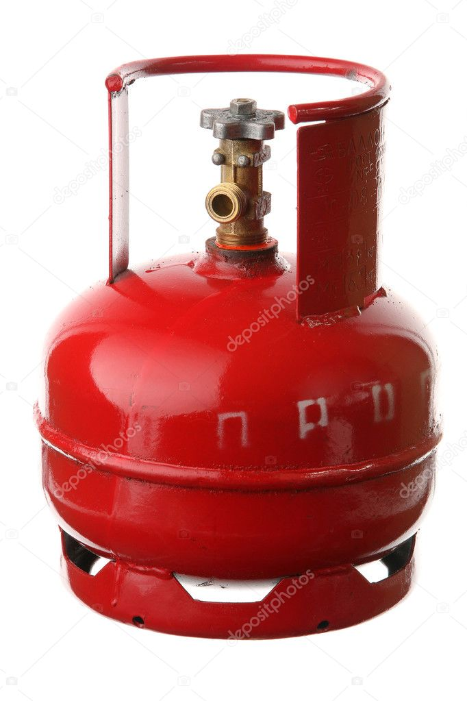 Gas cylinder on a white background — Stock Photo #1123906