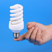 Luminescent bulb — Stock Photo