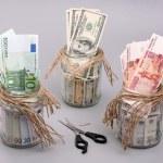 Money in the jars — Stock Photo #1160206