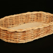 Stock Photo: Basket of willow rods