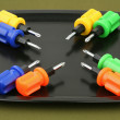 Stock Photo: Eight screw-drivers