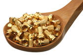 Gold nuts — Stock Photo