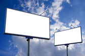 White blank billboard — Stock Photo