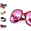 Collage of sunglasses — Stock Photo