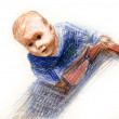 Drawn child — Stock Photo #1108025