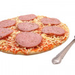 Royalty-Free Stock Photo: Pizza with salami