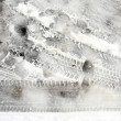 Tire tread pattern on snow — Stock Photo