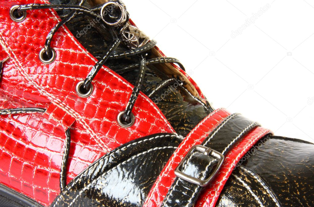 Red and black lacquered shoes — Stock Photo #1109535