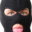 Man in black balaclava — Stock Photo