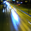 Royalty-Free Stock Photo: Night highway with car traffic